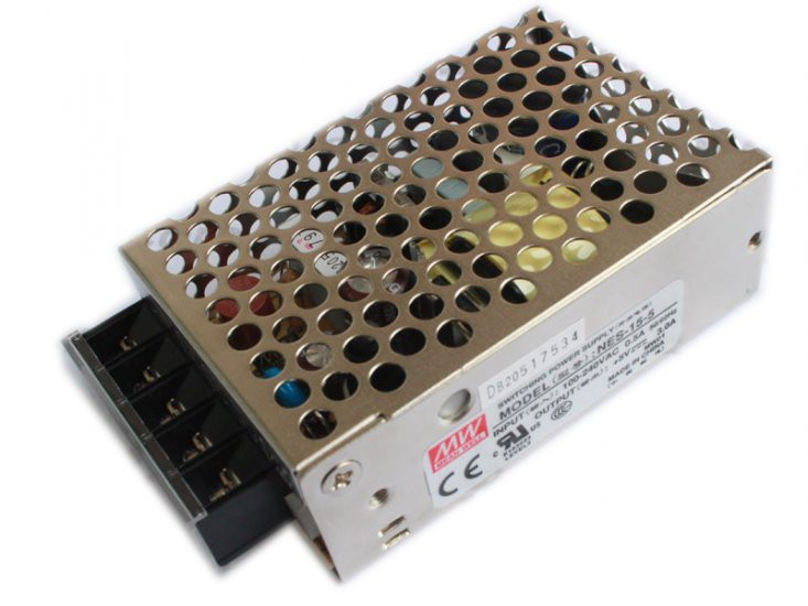 Meanwell 15V1A (NES-15-15) Switching Power Supply CE approved