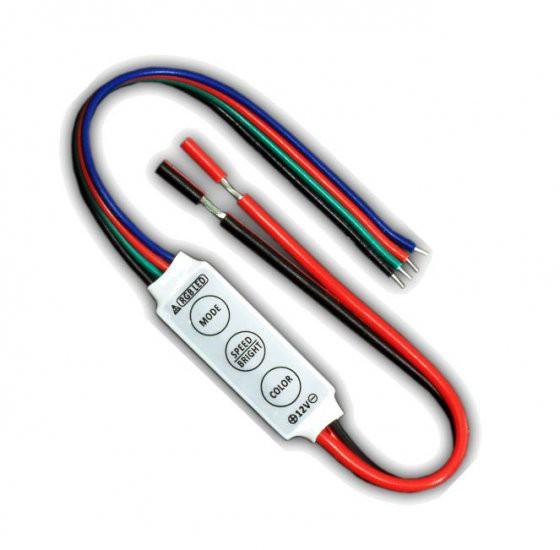 Mini RGB LED 3-KEY controller for LED Strip Lighting