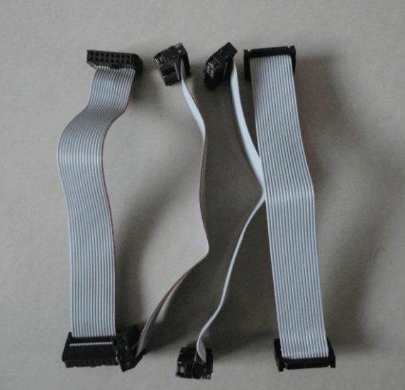 10pcsLot 30cm Long 16Pin LED data ribbon cable with sockets