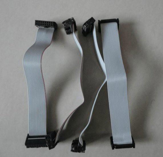 10pcsLot 60cm Long 16Pin LED data ribbon cable with sockets