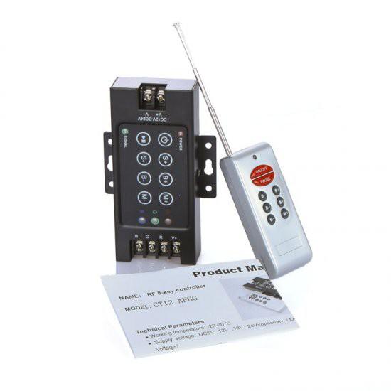 12-24V 8 Key LED RF Wireless Remote Controller Dimmer
