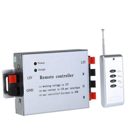 12V 4 Key RF Wireless RGB LED Controller for LED Strip Light