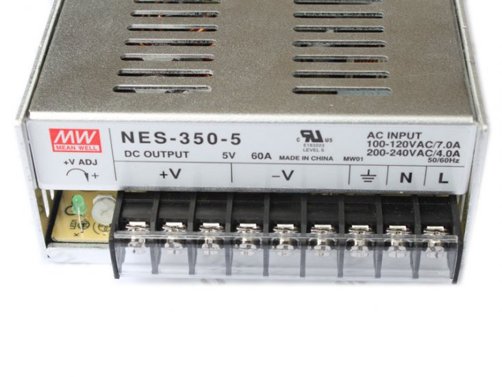 MEANWell 5V 60A 300W(NES-350-5) LED Power supply